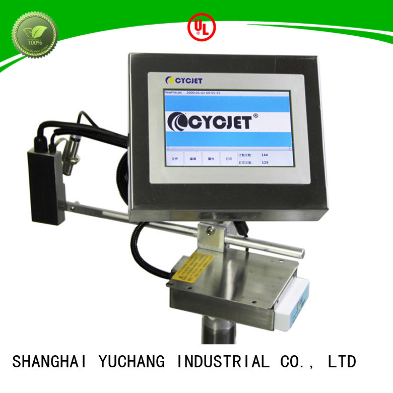 cycjet portable flying laser marking machine for food package