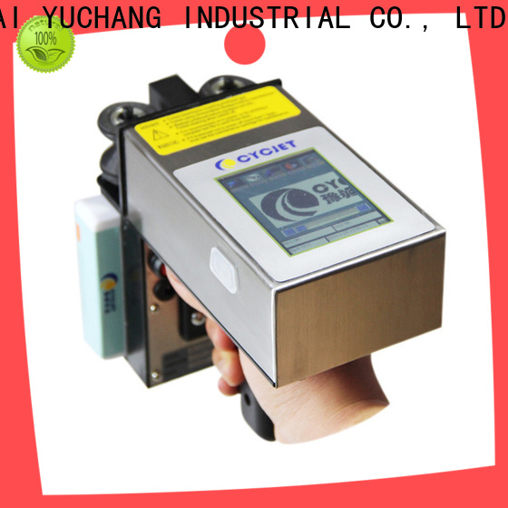 Top inkjet coder character for stainless steel