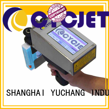cycjet portable handheld inkjet printer for business for plastic tags