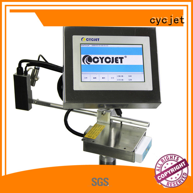 cycjet touch screen inkjet coding machines supplier for wood