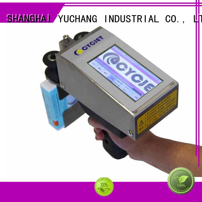 cycjet hand handheld inkjet printer company for plastic tags