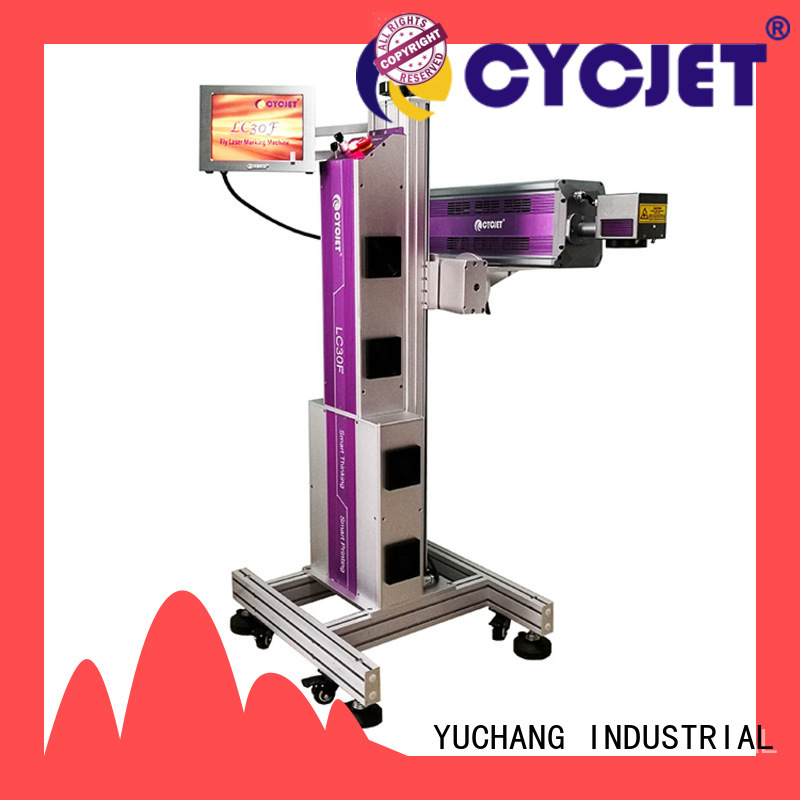 professional flying laser marking machine bulk production for food package