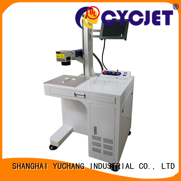 Custom fiber laser marking machine company for plastic label