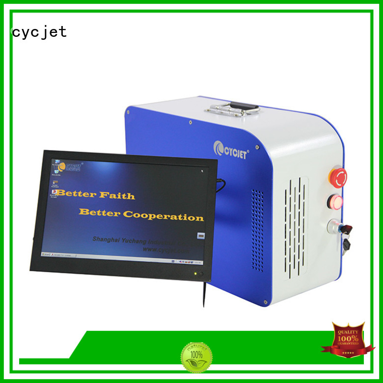 cycjet handheld laser marker supplier for large character printing