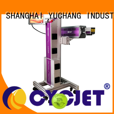 cycjet high-tech flying laser marking machine industry for electric cable