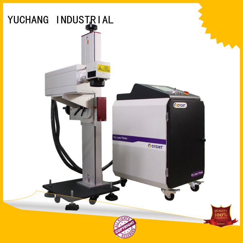 cycjet flying laser marking machine bulk production for electric cable