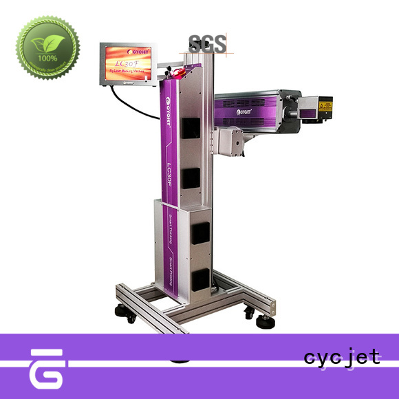 cycjet high-tech flying laser marking machine manufacturer for electric cable