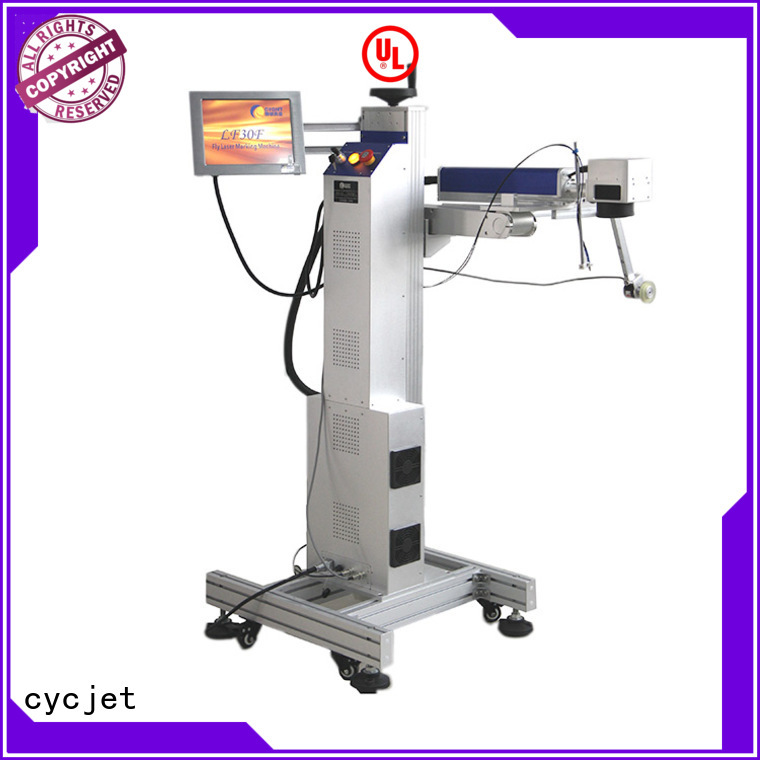 cycjet New flying laser marking machine for business for plastic pipe