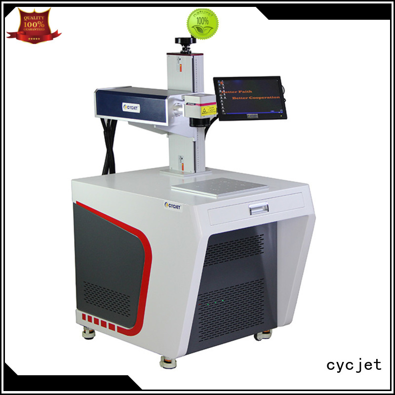 cycjet single handle laser coding machine manufacturer for plastic label