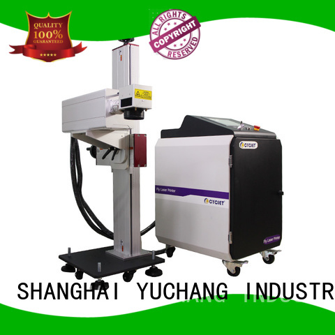 high speed flying laser marking machine manufacturer for plastic pipe