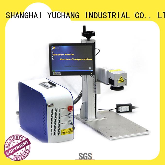 single handle laser coding machine manufacturer for plastic label