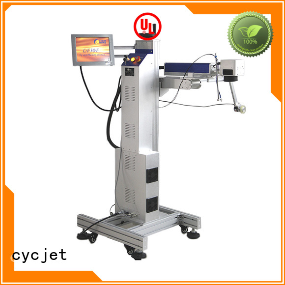 cycjet flying laser marking machine industry for plastic pipe