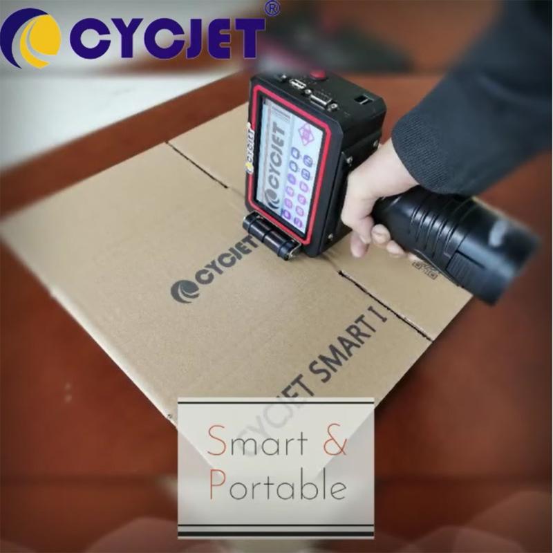 CYCJET Smart I Portable Handheld Inkjet Printer for Carton Box to Print Logo Bar Code QR Code Letter Number