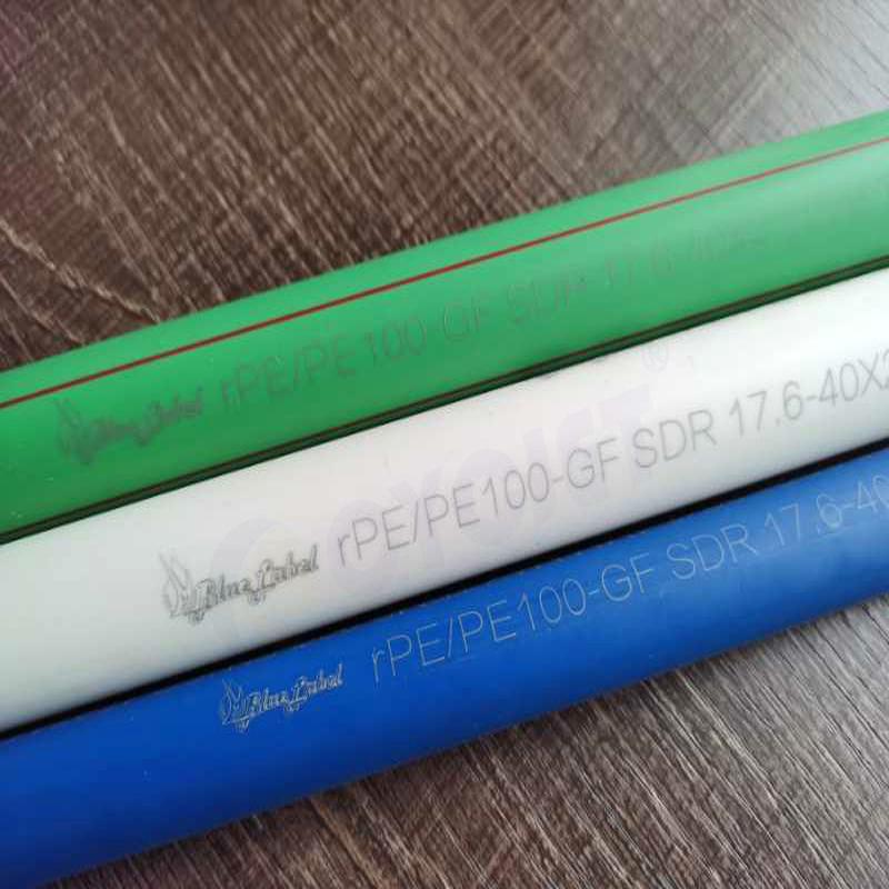 PE PPR Plastic Pipes Marking by CYCJET UV Laser Marking Machine آلة الوسم بالليزر للأنابيب البلاستيكية
