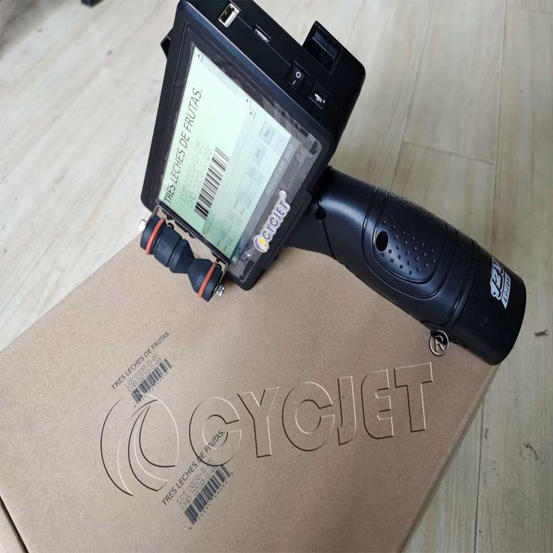 CYCJET Smart I Portable Handheld Inkjet Printer for Carton Box to Print Bar Code Production Date