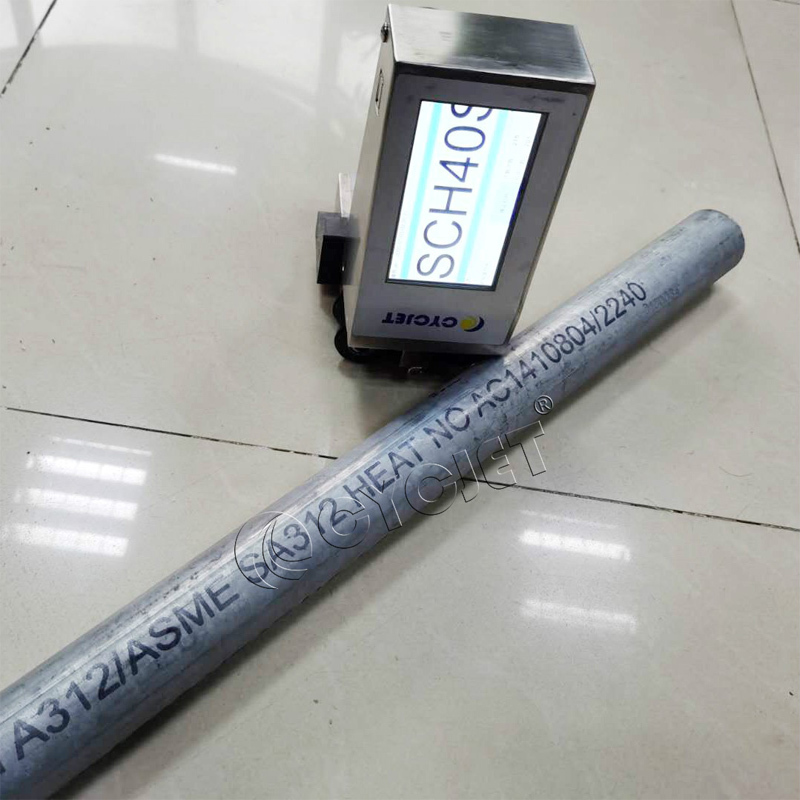 How to Print on the Pipe by CYCJET ALT360Pro Handheld Inkjet Printer High-resolution Handjet Printer