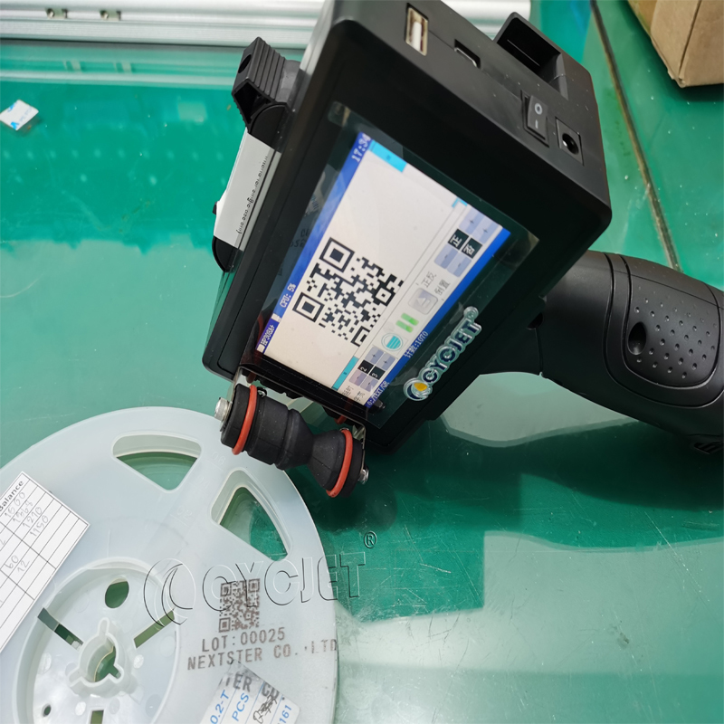 How to Achieve QR Code Printing on Plastic Material by CYCJET Portable Handheld Inkjet Printer