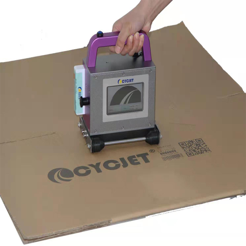 How to Print Large Logo Letter QR Code Bar Code on Cardboard by CYCJET CH7 Hand Stamp Inkjet Printer