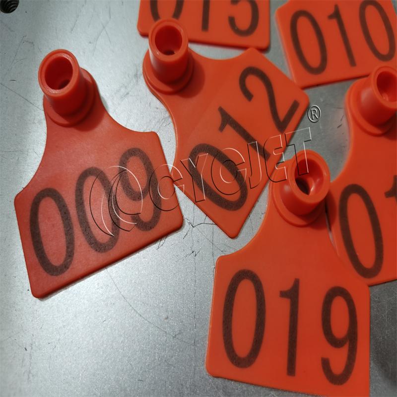 CYCJET 20W Bench Type Fiber Laser Printer for Animal Ear Tag Serial Number Static Laser Marking