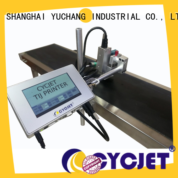 cycjet tij flying laser marking machine company for plastic pipe