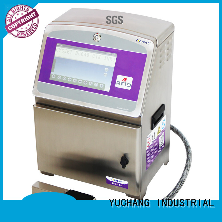 cycjet screen small character inkjet printer at discount for cables