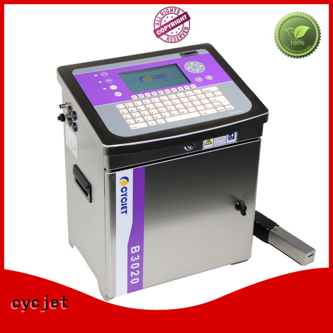 cycjet screen controller small character inkjet printer manufacturer for cables